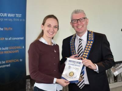 Rotary Club of Aberdeen Deeside Banner Presented